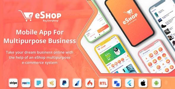 eShop v2.1.0 – Flutter E-commerce Full App