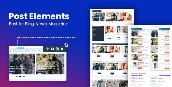 Post Elements - Elementor Addon for Blog, Newspaper, Magazine WordPress Plugin