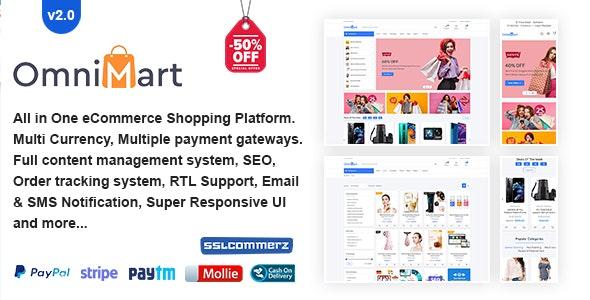 OmniMart - eCommerce Shopping Platform - CodeCanyon Item for Sale
