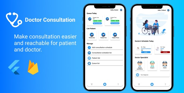 Booking Doctor Consultation - Flutter with Firebase - CodeCanyon Item for Sale