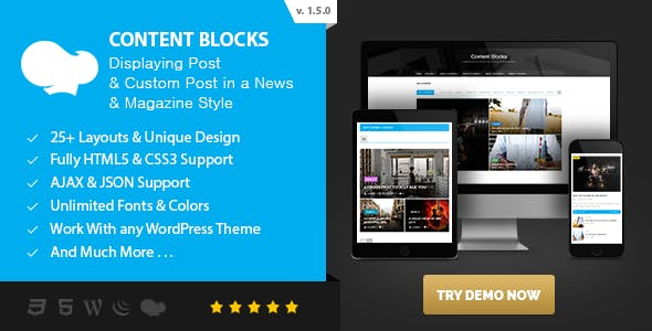 Content Blocks Layout For WPBakery Page Builder - News & Magazine Style