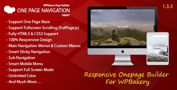Smart One Page Navigation - Addon For WPBakery Page Builder - CodeCanyon Item for Sale