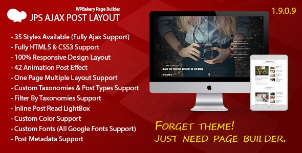JPS Ajax Post Layout - Addon For WPBakery Page Builder - CodeCanyon Item for Sale