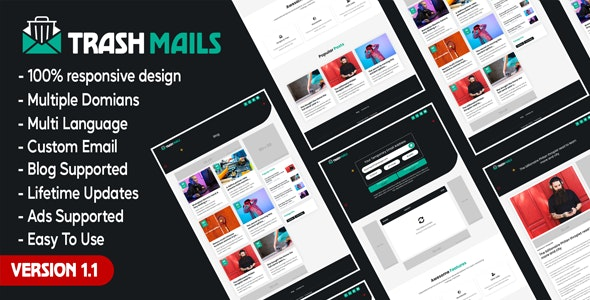 Trash Mails - Temporary Email Address System - CodeCanyon Item for Sale