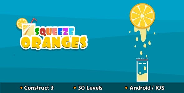 Squeeze Oranges - HTML5 Game (Construct 3)