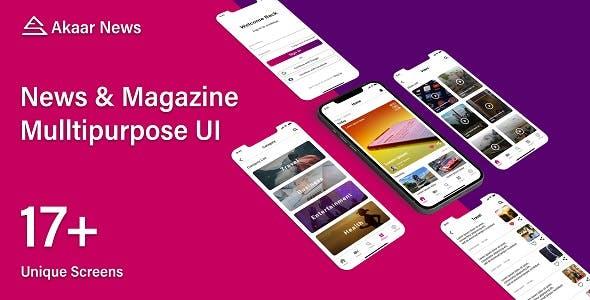 Akaar News - Multipurpose News and Magazine Flutter UI Kit