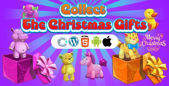 Collect The Christmas Gifts Game (Construct 3 | C3P | HTML5) Christmas Game