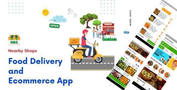 Nearby Shops Food Delivery and Ecommerce App