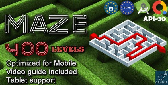 Maze 400 (Admob + GDPR + Android Studio)