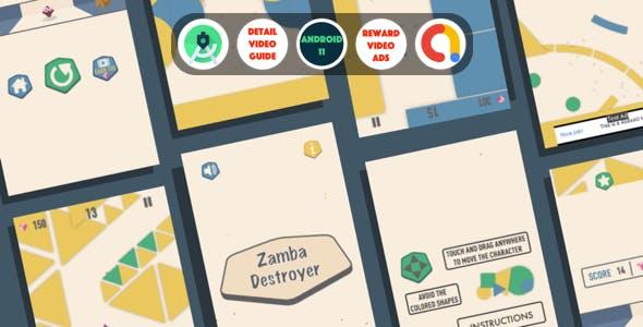 Zamba : (Android Studio+Admob+Reward Video ads+Inapp purchase+Leaderboards)