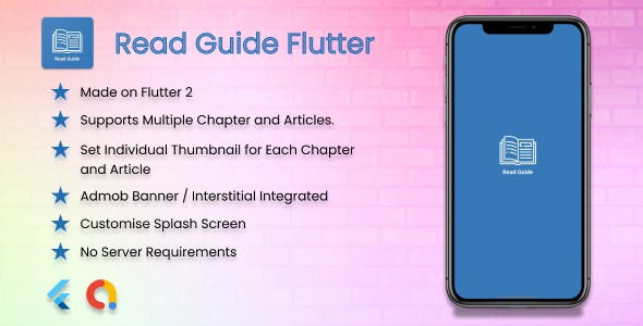 Read Guide Flutter - How to Guide for Tips and Tricks, Applications and Games - Admob, No Server