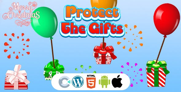 Protect The Christmas Gifts Game (Construct 3 | C3P | HTML5) Christmas Game