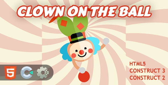 Clown on the Ball! HTML5 Construct 2/3 Game - CodeCanyon Item for Sale