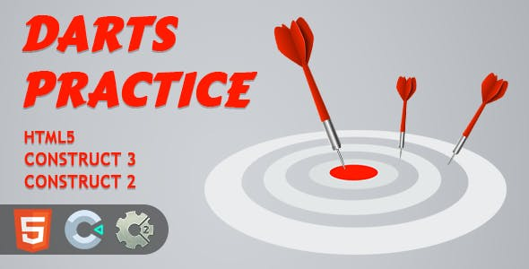 Darts Practice HTML5 Construct 2/3 Game