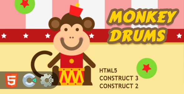 Monkey Drums HTML5 Construct 2/3