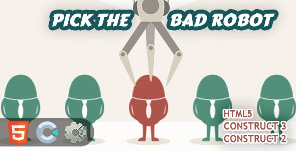 Pick The Bad Robot HTML5 Construct 2/3 Game