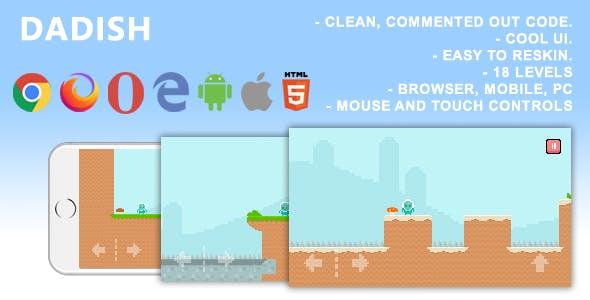 Dadish. Mobile, Html5 Game .c3p (Construct 3)