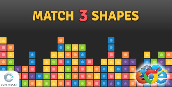 Match 3 Shapes - HTML5 Game
