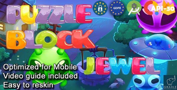 Puzzle Block Jewel V3 (Admob + GDPR + Android Studio)