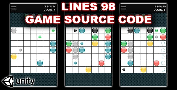 Color Lines 98 - Connect Dots - Unity Game