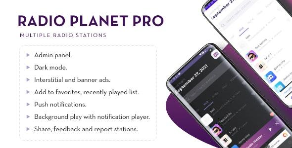 Radio Planet Pro   Multi-station Radio App With Admin Panel - CodeCanyon Item for Sale