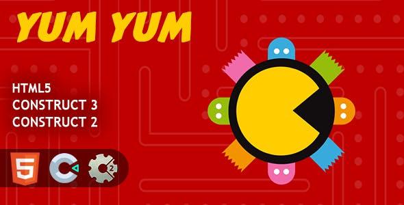 Pacman Yum Yum HTML5 Construct 2/3 Game