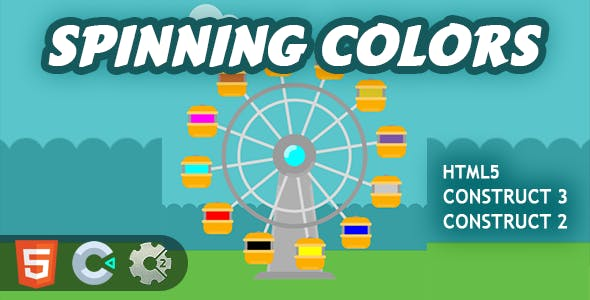 Spinning Colors HTML5 Construct 2/3 Game