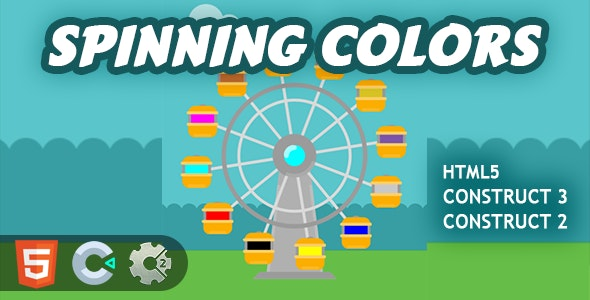 Spinning Colors HTML5 Construct 2/3 Game - CodeCanyon Item for Sale