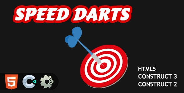 Speed Darts HTML5 Construct 2/3 Game - CodeCanyon Item for Sale
