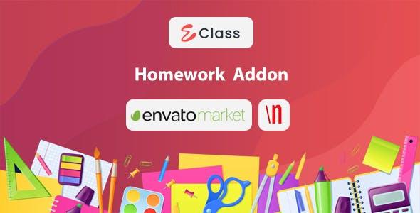eClass Home Work Addon