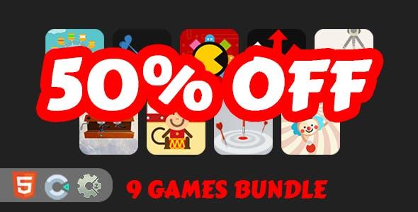 9 Mini HTML5 Games Bundle [ C2/C3 ]