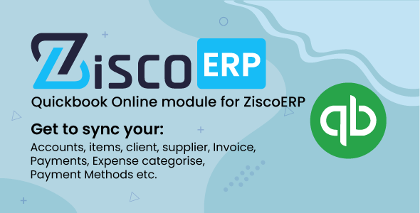 Quickbook Sync Module for ZiscorERP