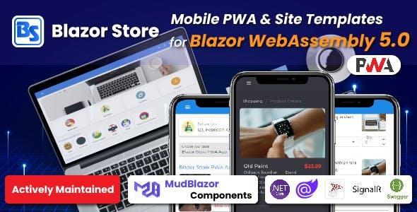Blazor Store - Mobile PWA and Site Templates