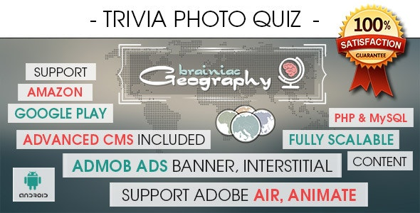 Photo Trivia Quiz App With CMS & Ads - Android - CodeCanyon Item for Sale