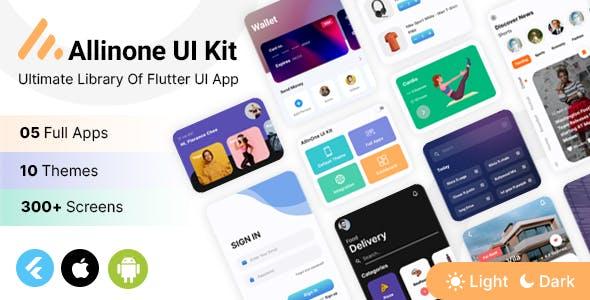 Allinone Flutter Template - Flutter UI Kit