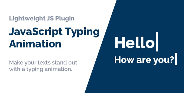 JavaScript Typing Animation - CodeCanyon Item for Sale