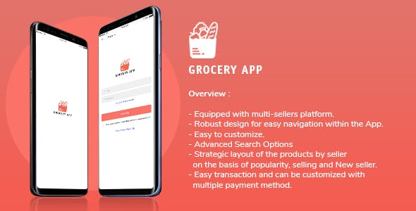 Grocery Application Template for User in iOS