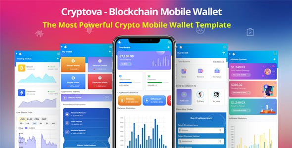 Cryptova - Blockchain App & Mobile Crypto Wallet