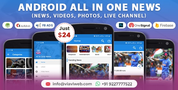 All In One News (News, Videos, Photos, Live Channel) v3.0