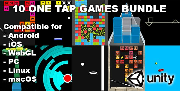 10 One Tap Unity Games Bundle