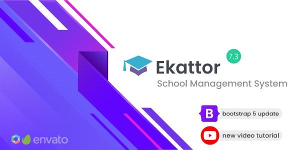 Ekattor v7.3 + Addons NULLED – school management system – Free Download