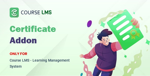 Course LMS Student Certificate Addon - CodeCanyon Item for Sale