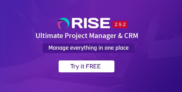 RISE - Ultimate Project Manager & CRM - CodeCanyon Item for Sale