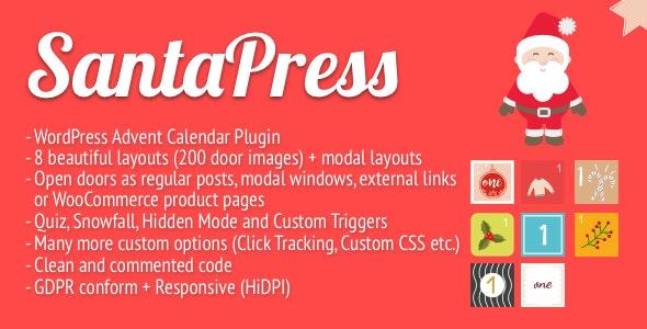 SantaPress - WordPress Advent Calendar Plugin & Quiz - CodeCanyon Item for Sale