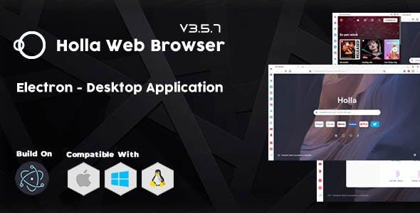 Holla Browser - Desktop Application