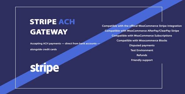 WooCommerce Stripe ACH Gateway