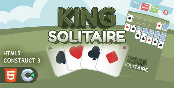 King Solitaire HTML5 Construct 3 Game - CodeCanyon Item for Sale