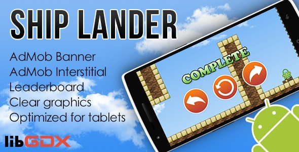 Ship Lander with AdMob and Leaderboard - CodeCanyon Item for Sale