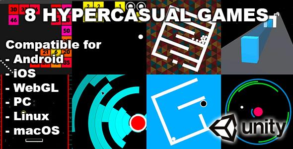 8 Fun Unity Hypercasual Games