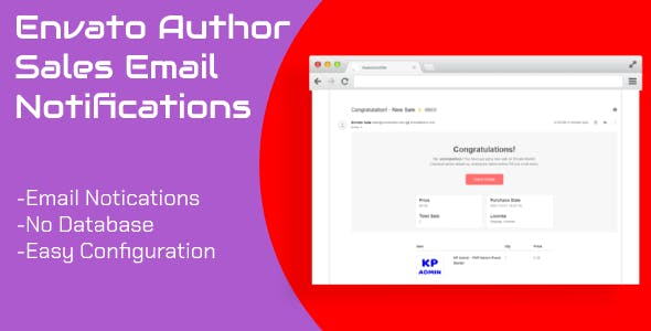 Envato Author Sales Email Notifications